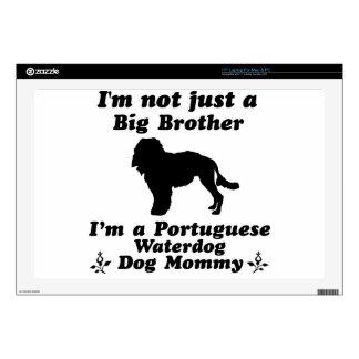 """portuguese waterdog 17"""" laptop decals"""