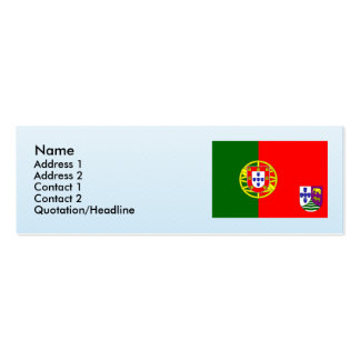 Portuguese West Africa, Angola Double-Sided Mini Business Cards (Pack Of 20)