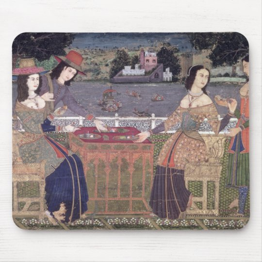 Portuguese women eating a meal, Goa Mouse Pad