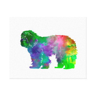 Portuguse Sheepdog in watercolor Canvas Print