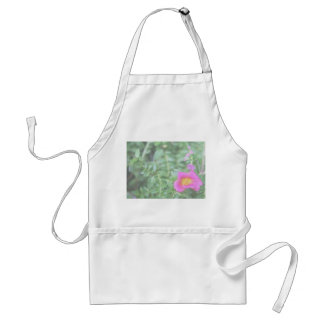 Portulaca dark pink flower green back faded apron