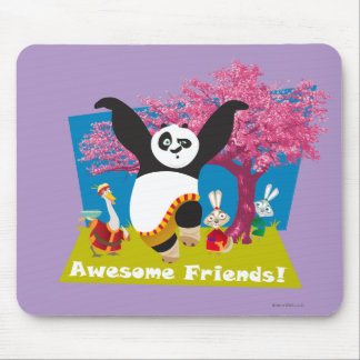 Po's Awesome Friends Mouse Pad