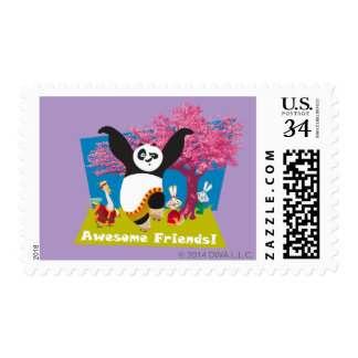 Po's Awesome Friends Stamps