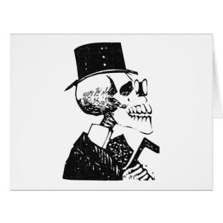 Posada Calavera with Top Hat and Cane Card