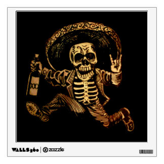 Posada day of the dead Outlaw wall sticker