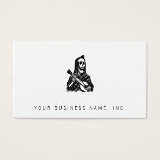 Posada Skeleton (Cavalera) with Guitar Business Card