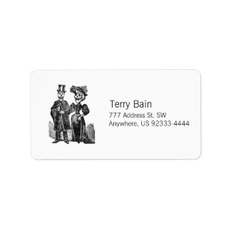 Posada Skeleton Couple Address Label