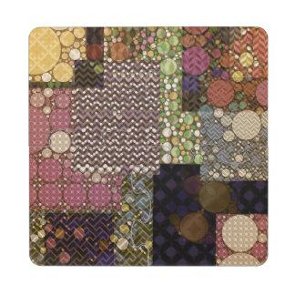 Posavasos de puzzle abstractos acolchados