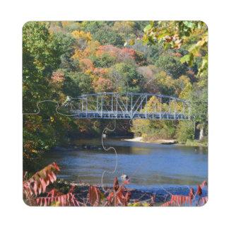 Posavasos de puzzle del puente de Collinsville