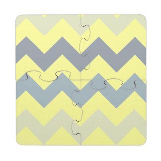 Posavasos de puzzle grises y amarillos de Ombre Ch