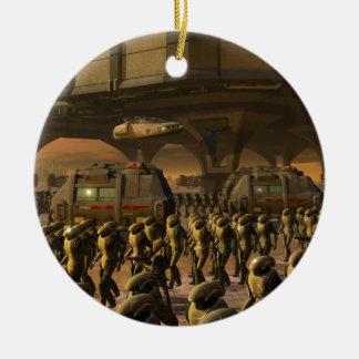 Posbi City - space trooper Ceramic Ornament