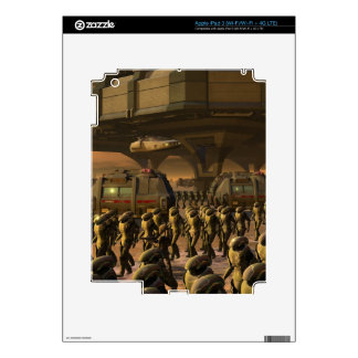 Posbi City - space trooper Decal For iPad 3