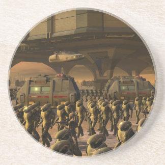 Posbi City - space trooper Drink Coaster