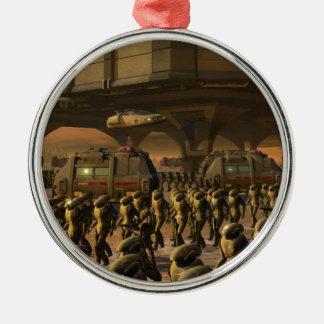 Posbi City - space trooper Metal Ornament