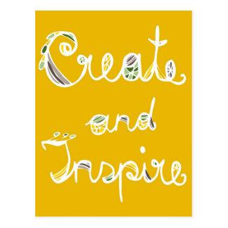 "Poscard ""Create and Inspire Dark Orange"" Postcard"