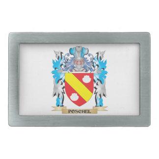 Poschel Coat of Arms - Family Crest Belt Buckles