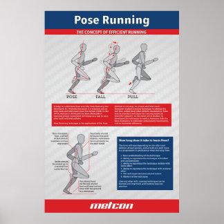 """Pose Running Poster 24"""" x 36"""" (Matte)"""