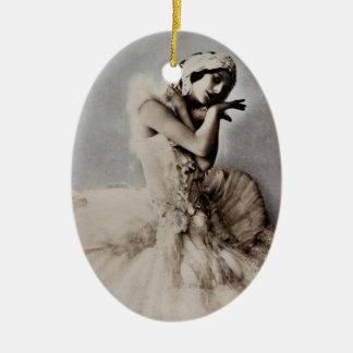 Posed en Pointe Ceramic Ornament