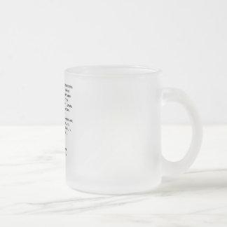 Poseer el vidrio esmerilado del árbitro del taza de cristal