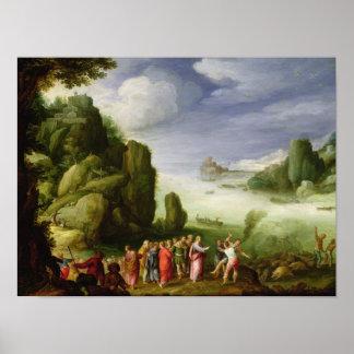 Poseído de Gerasa, 1608 de la cura de Cristo Póster