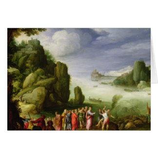 Poseído de Gerasa, 1608 de la cura de Cristo Tarjeta De Felicitación