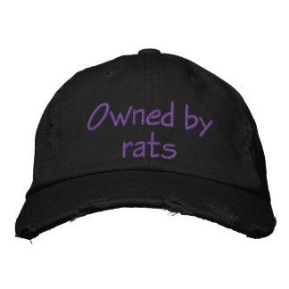 Poseído por las ratas gorra bordada