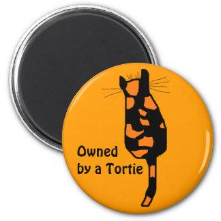 Poseído por los imanes de un gato de Tortie Imán Redondo 5 Cm