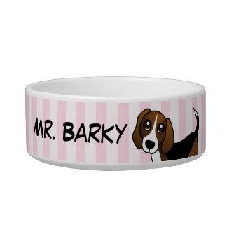 Poseído por un beagle - rosa comedero para mascota