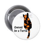Poseído por un botón del gato de Tortie Pin