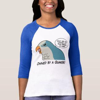 Poseído por un quaker azul tee shirt
