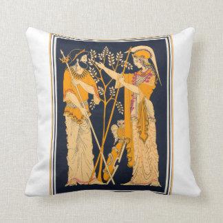 Poseidon and Athena Throw Pillows