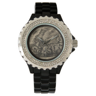 Poseidon and His Sea Horse Driven Chariot Wristwatch