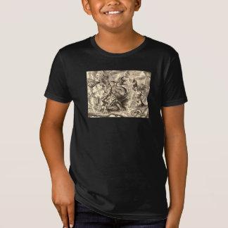 Poseidon at Sea World Map T-Shirt