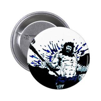Poseidon Dark black and blue Buttons
