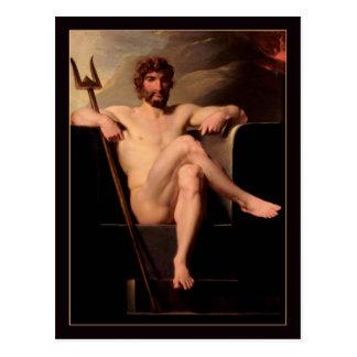 Poseidon Enthroned por Heinrich Fuger Postal