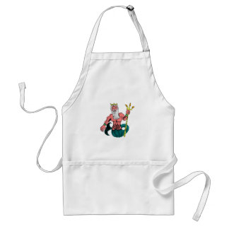 Poseidon, Greek God of the Sea Holding Trident Adult Apron