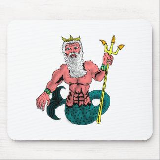 Poseidon, Greek God of the Sea Holding Trident Mousepad