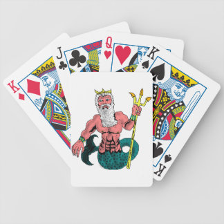 Poseidon, Greek God of the Sea Holding Trident Bicycle Card Deck