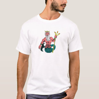 Poseidon, Greek God of the Sea Holding Trident T-Shirt