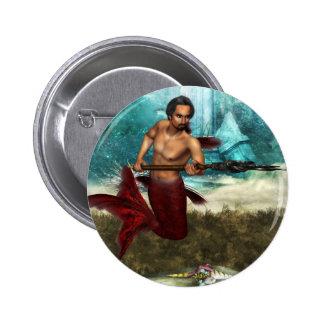 Poseidon Merman Buttons