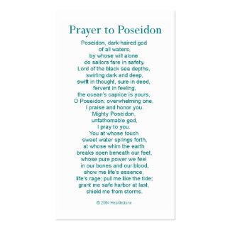 Poseidon Prayer Card Business Card
