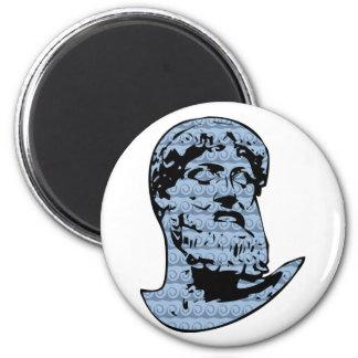 Poseidon statue magnet