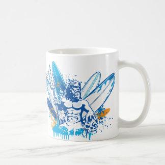 poseidon surfer coffee mug