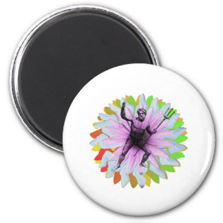 Poseidon the god of the sea 2 inch round magnet