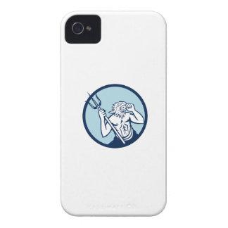 Poseidon Trident Circle Retro iPhone 4 Case
