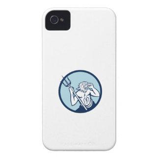 Poseidon Trident Circle Retro iPhone 4 Cover