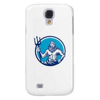 Poseidon Trident Circle Woodcut Samsung S4 Case