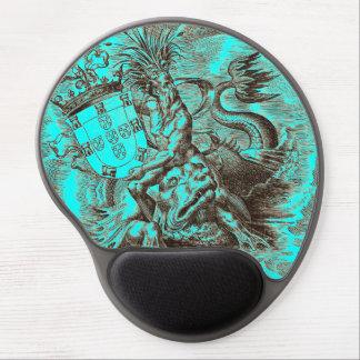 Poseidon World Map Gel Mousepad
