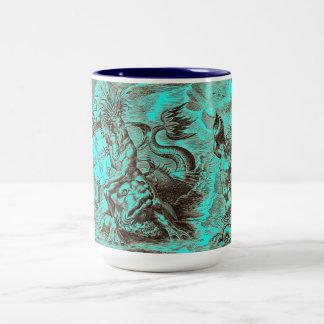 Poseidon World Map Coffee Mug
