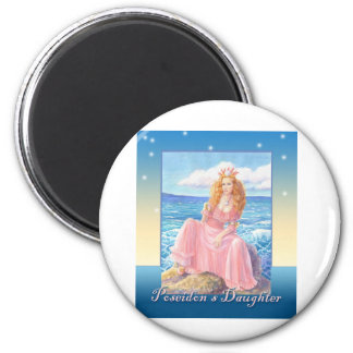 Poseidon's Daughter 2 Inch Round Magnet